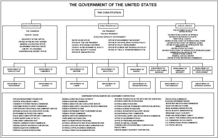 Us Government Organization Chart Consution Level
