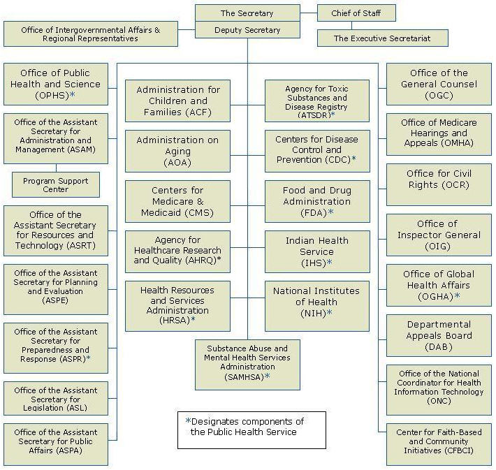 US Health And Human Services Organization Chart - Map of us government